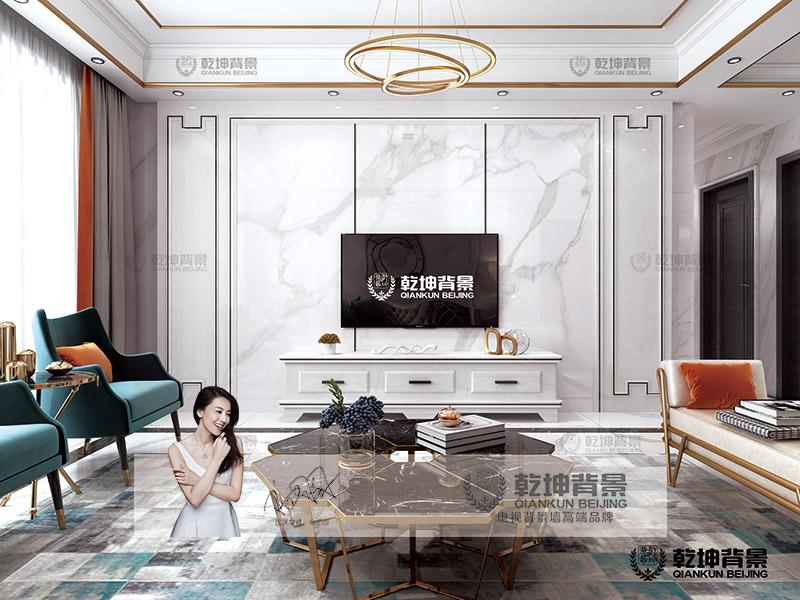 乾坤背景墙-大板—白金石