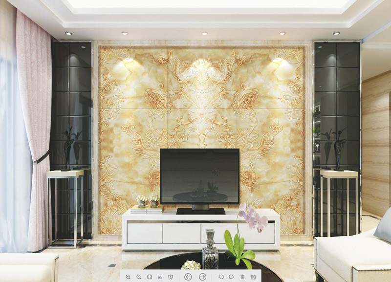 乾坤艺术瓷砖背景墙